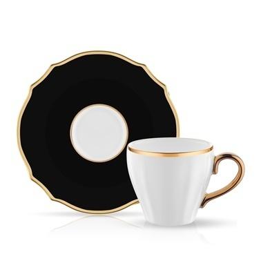 Koleksiyon Poem Türk Kahve Seti 6'Lı Siyah Siyah